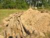 Когда бревна закопают они будут перегнивать и служить источником тепла и воды